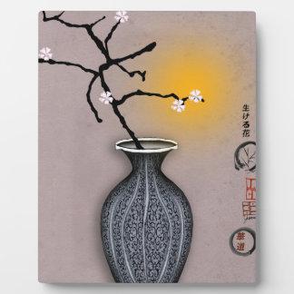 la lune élégante des fernandes et la fleur de 6 plaque photo