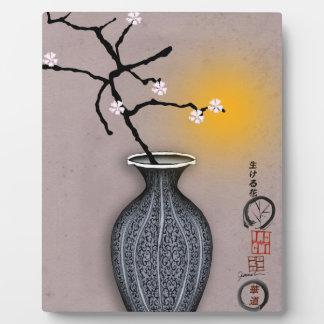 la lune élégante des fernandes et la fleur de 7 plaque photo