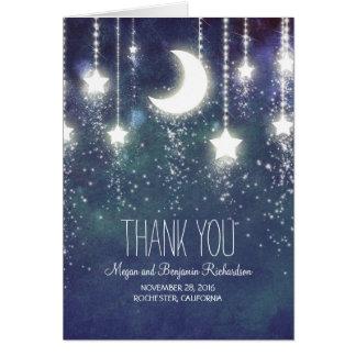 La lune et les étoiles ont enchanté le Merci de Cartes De Vœux