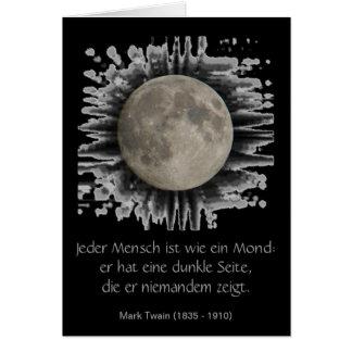 La lune la lune la luna moon carte de plissemen