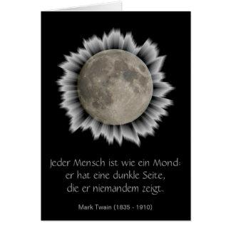 La lune, la lune, la luna, moon carte de plissemen