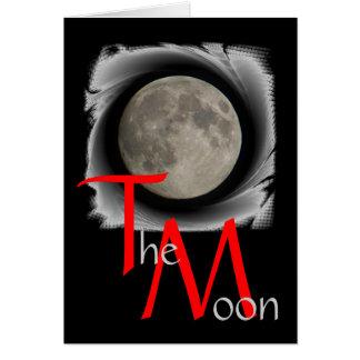 La lune, la lune, la luna, moon carte de salutatio