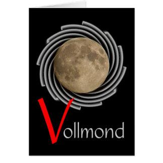 La lune la lune la luna moon carte de salutatio