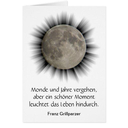 La lune, la lune, la luna, moon carte the