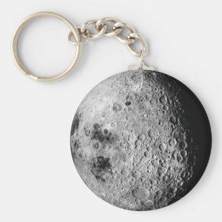 La lune porte-clé rond