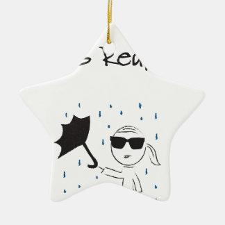 La lutte d'échouer de parapluie est vraie ornement étoile en céramique