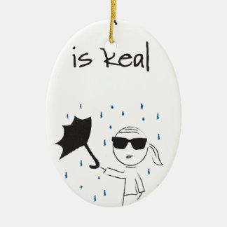 La lutte d'échouer de parapluie est vraie ornement ovale en céramique