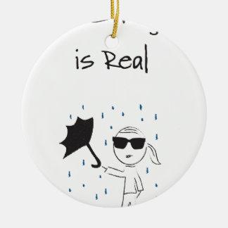 La lutte d'échouer de parapluie est vraie ornement rond en céramique