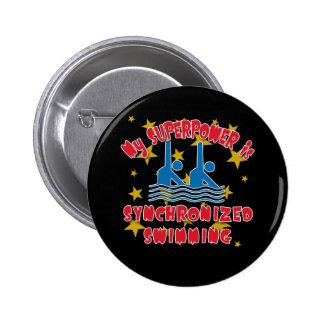 La ma superpuissance est natation synchronisée pin's