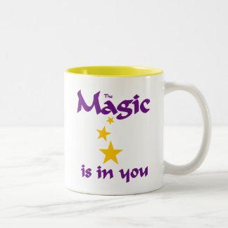 La magie est dans vous tasse 2 couleurs