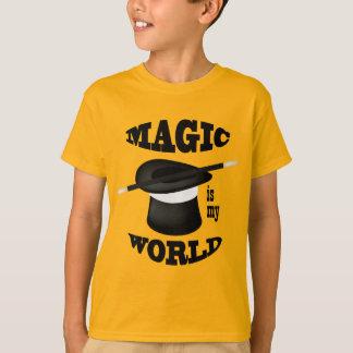 La magie est ma chemise d'or de magicien du monde t-shirt
