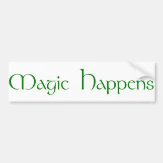 La magie se produit autocollant de voiture