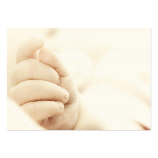 La main du bébé carte de visite