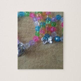 la maison a fait des braclets perlés puzzle