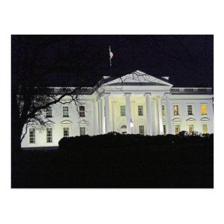 La Maison Blanche au Washington DC 002 de nuit Cartes Postales