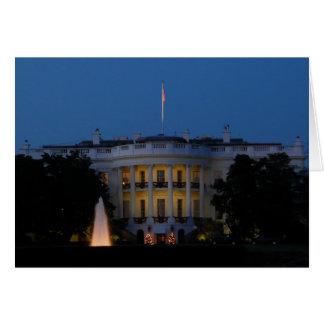 La Maison Blanche de Noël la nuit dans le Cartes