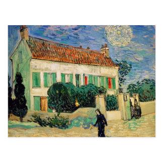 La Maison Blanche de Vincent van Gogh | la nuit, Carte Postale