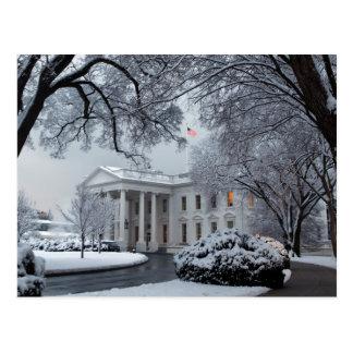 La Maison Blanche du pays des merveilles d'hiver Carte Postale