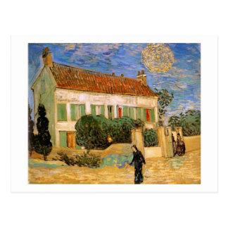 La Maison Blanche la nuit, beaux-arts de Van Gogh Carte Postale