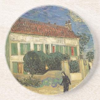 La Maison Blanche la nuit par Vincent van Gogh Dessous De Verres