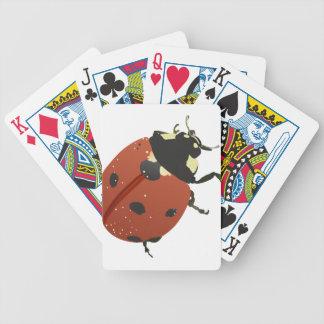 La maison de bureau de coccinelle personnalisent jeux de cartes