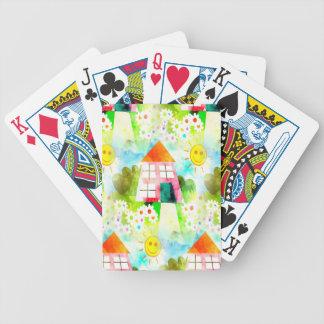 la maison d'été et font du jardinage tuile jeu de cartes