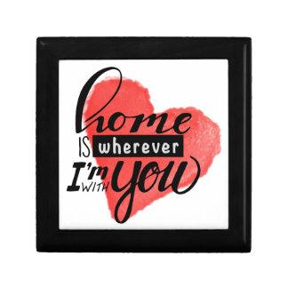 La maison est coeur là où de | boîte à souvenirs