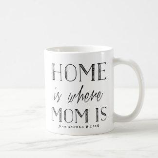La maison est où la maman est tasse noire de