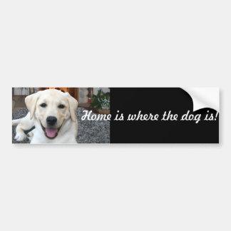 La maison est où le chien est adhésifs pour voiture