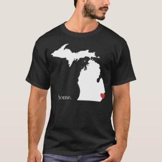 La maison est où le coeur est - le Michigan T-shirt