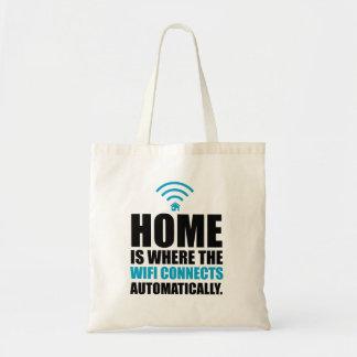 La maison est où le Wi-Fi se relie automatiquement Sac