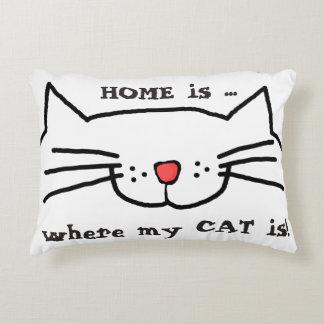 La maison est où mon chat est coussin