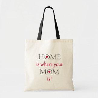 La maison est où votre maman est sac fourre-tout