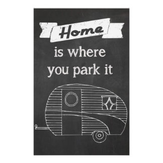 La maison est où vous la garez - image vintage de  prospectus 14 cm x 21,6 cm