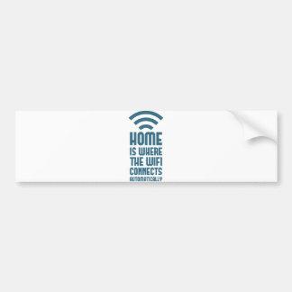 La maison est où WIFI se relie automatiquement Autocollant De Voiture