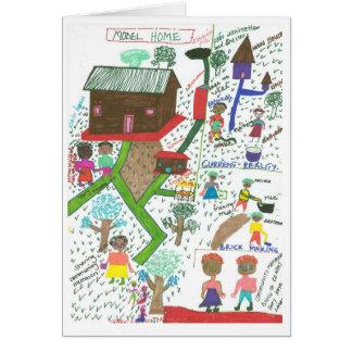 La maison modèle d'Atwooki Carte De Vœux