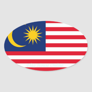 La Malaisie - autocollant d'ovale d'Euro-style