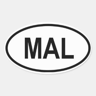 """La Malaisie """"CMA """" Sticker Ovale"""