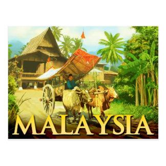 La Malaisie - le chariot de Bullock Carte Postale