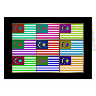 La Malaisie Multihue marque la carte de voeux