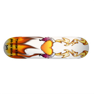 La maman chaude a besoin d'une date skateboard 20,6 cm