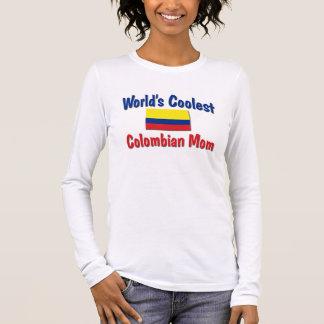 La maman colombienne la plus fraîche t-shirt à manches longues