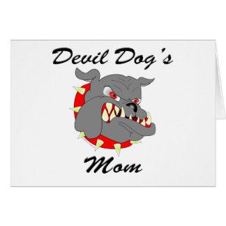 La maman de chien de diable d'usmc cartes