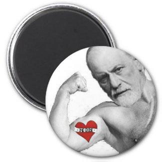 La maman de Freud était CHAUDE Magnet Rond 8 Cm