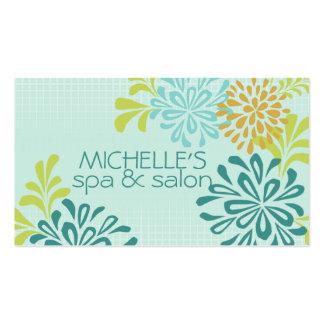 La maman de mod, mamans, chrysanthème fleurit le carte de visite standard
