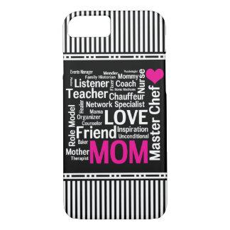La maman est cadeau du jour de mère d'amour pour coque iPhone 8/7