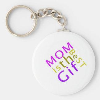 La maman est le meilleur porte - clé de cadeau porte-clé rond