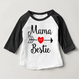 La maman est mon bestie t-shirt pour bébé