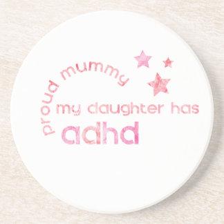 La maman fière ma fille a le TDAH Dessous De Verre En Grès