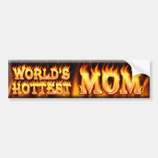 la maman la plus chaude des mondes autocollant pour voiture